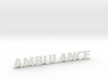 Ambulance letters met steun 86 mm