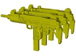 1/25 scale IMI Uzi submachineguns x 3