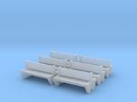 TJ-H04555x6 - bancs de quai en beton, doubles