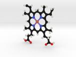 Heme B Molecule Model. 2 Sizes