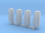 N Scale '50s Gas Pumps 4pc