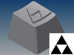 Legend of Zelda - Triforce Keycap (R4, 1x1)