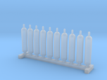 N Scale 10 Gas Cylinders