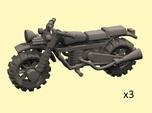 28mm Crude Motorbikes model 1 - X3