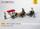 SET 3x Carrier tricycles (TT 1:120)