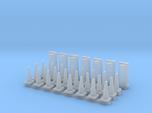 'HO Scale' - Road Construction Cones and Barrels