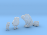 Four Familiars for 28mm minis - Rat, Cat, Toad, Ow