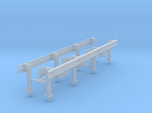 1/64th set of two 20' highway guardrails