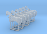 6 pack HO scale horses with harnesses