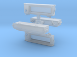 N Scale SW? Angled Number Board Housing 4PK