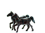 Horse with REINS HO Scale