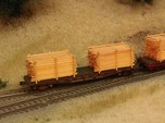 Lumber Load N Scale: 40' Flat Car