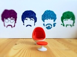Egg Chair Dome: Red & White (1:24 Scale)