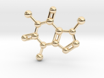 Caffeine molecule Necklace Pendant Big