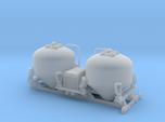 Bulk tank - Silo à ciment - Berliet GLR - HO - 1/8