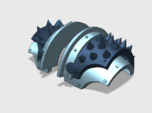 5x Round Spiked = Cataphractii Shoulder Sets
