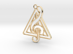 Treble Clef And triangle intertwined