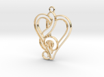 Treble Clef and heart intertwined