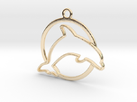 Dolphin & circle intertwined Pendant