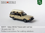 Volvo 240 GLT Estate with roof box (N 1:160)
