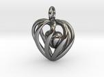 Heart Cage Pendant - Small, No Arrow