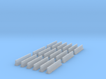 18 Jersey Barriers for 6mm, 1/300 or 1/285