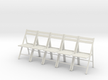 5 1:24 Wooden Folding Chairs