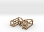 3D Font Letter M pendant