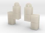 Video Game block earrings