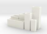 Cityscape 6-piece set of dollhouse vases