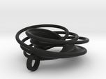 Twin Rail Mobius Pendant - small