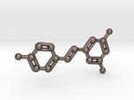 Resveratrol (Red Wine) Molecule Keychain