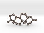 Testosterone Molecule Necklace BIG