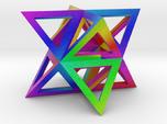 Vibrant Stellated Octahedron Frame