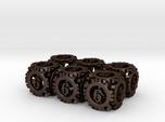 Steampunk Gear 6d6 Set