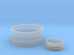 1/8 Rear Wire Wheel (rim/hub) for 1/8 Revell Deuce