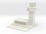 1/700 Control Tower And RADAR With Carpark
