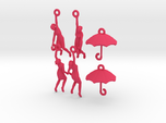 earring set: Umbrella girls