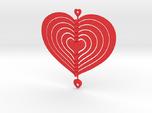 Heart Swap Spinner Flat Spiral - 15cm