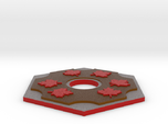 Catan Hex Tile Wood Mapleleaf 79mm
