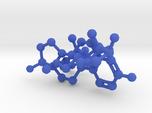 Testosterone Estrogen molecules crosslinked