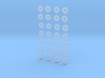 """HO scale 28pc 36"""" Allen paper wheel inserts"""