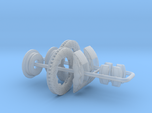 1/12 Modern 11.6 Inch Diam 6 Piston Disk Brake Set