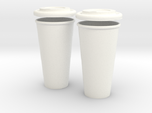 BJD Doll Coffee House Cup and Lid - 2 Pack