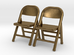 1:48 Miniature Pair of Folding Chairs