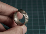The Crumple Ring - 19mm Dia