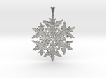 Frozen Snowflake Crystal Pendant