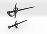 Rapier and Dagger (17th C. sword) earrings