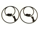 Playing Cats Hoop Earrings 50mm
