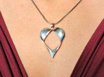 Mobius Band Heart Pendant